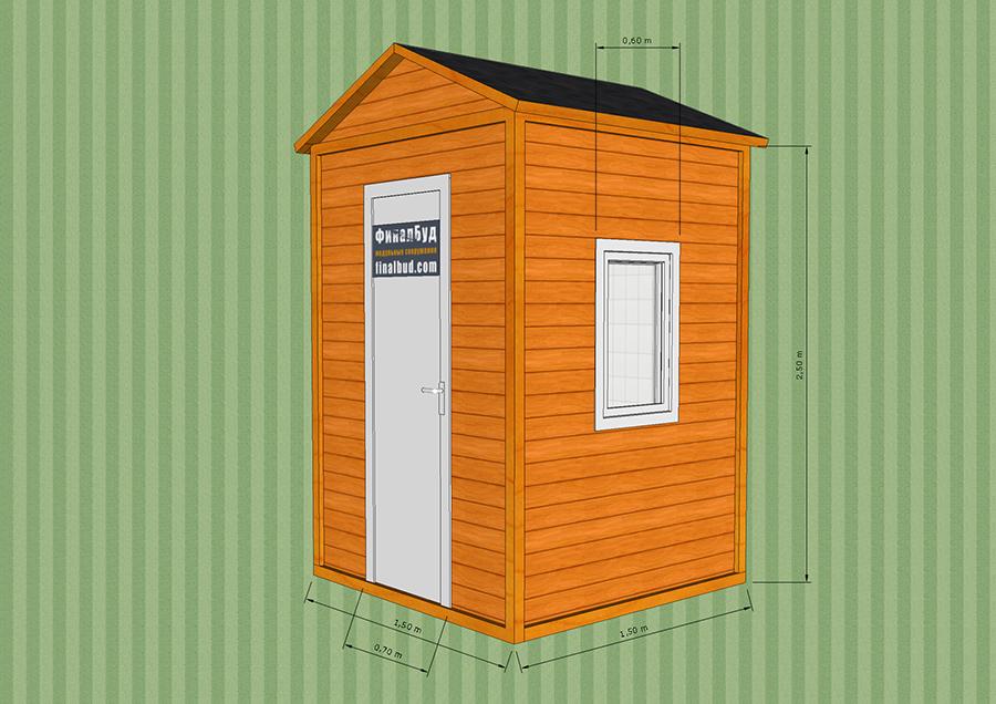 Дачный туалет размеры 1500х1500 своими руками