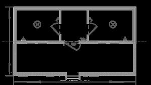 Дачный домик 6х5м схема