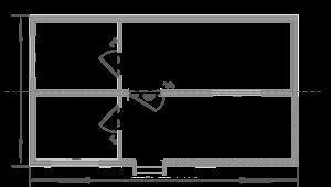 Дачний будиночок 6х5м схема
