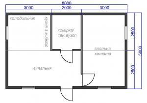 Модульный дом 5х6 схема