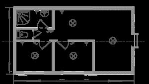 Дачный домик 6х5м, 6х8м схема