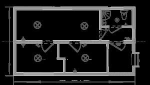 Дачний будиночок 5х6м схема