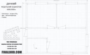 Модульный дом 6х5м схема