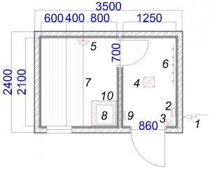 Мобильная баня (схема)