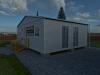 Дачний будиночок із трьох блок-модулів